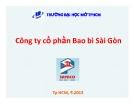 Tiểu luận: Công ty cổ phần Bao bì Sài Gòn