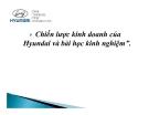 Tiểu luận: Chiến lược kinh doanh của Hyundai và bài học kinh nghiệm