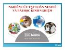 Tiểu luận: Nghiên cứu tập đoàn Nestlé và bài học kinh nghiệm