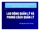 Bài giảng Khoa học quản lý: Chương 9 - Nguyễn Xuân Phong