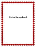 3 trò vui dạy con học số
