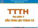 Bài giảng Nền tảng lập trình C# - ĐH KHTN TP.HCM