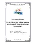 SKKN: Một số kinh nghiệm nâng cao chất lượng viết đoạn văn ngắn cho học sinh lớp 2