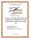 SKKN: Sáng tác và phổ nhạc một số bài thơ, câu chuyện theo chủ đề nhằm nâng cao chất lượng giáo dục thẩm mĩ cho trẻ Mầm non