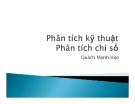 Bài giảng Phân tích kỹ thuật trong đầu tư chứng khoán: Bài 2 - Quách Mạnh Hào
