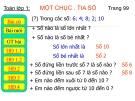 Bài giảng Toán 1 chương 3 bài 4: Một chục. Tia số