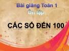 Bài giảng Toán 1 chương 4 bài 8: Ôn tập các số đến 100