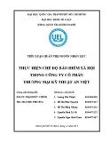 Tiểu luận Quản trị nguồn nhân lực: Thực hiện chế độ bảo hiểm xã hội trong công ty cổ phần thương mại kỹ thuật An Việt