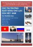 Tiểu luận: Các thị trường xuất khẩu chủ lực của Việt Nam - Thị trường Nga