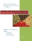 Tiểu luận: Hồ tiêu – mặt hàng xuất khẩu chủ lực của Việt Nam