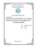 Tiểu luận: Đánh giá chất lượng dịch vụ vận tải hành khách công cộng của Liên hiệp HTX vận tải Thành phố Hồ Chí Minh