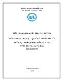 Tiểu luận: Đánh giá hiệu quả hệ thống thoát nước tại thành phố Hồ Chí Minh