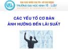 Bài giảng Tài chính tiền tệ: Bài 4 (b)