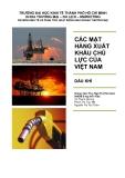Tiểu luận: Các mặt hàng xuất khẩu chủ lực của Việt Nam dầu khí