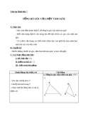 Giáo án Hình học 7 chương 2 bài 1: Tổng ba góc của một tam giác