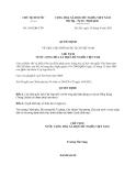 Quyết định 1693/QĐ-CTN năm 2013