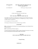 Quyết định 1695/QĐ-CTN năm 2013