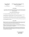 Quyết định 1435/QĐ-UBND