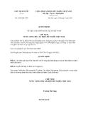 Quyết định 1696/QĐ-CTN năm 2013