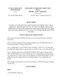 Quyết định 20/2013/QĐ-UBND tỉnh Yên Bái