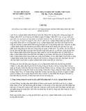 Chỉ thị 03/2013/CT-UBND huyện Bình Chanh