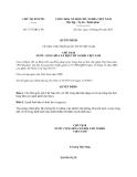 Quyết định 1737/QĐ-CTN năm 2013