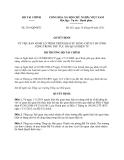 Quyết định 2341/QĐ-BTC năm 2013