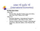 Bài giảng về Kinh tế quốc tế
