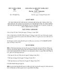 Quyết định 1706/QĐ-TTg năm 2013