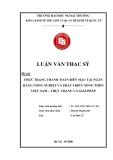 Luận văn thạc sĩ kinh tế: Thực trạng thanh toán biên mậu tại ngân hàng nông nghiệp và phát triển nông thôn Việt Nam - thực trạng và giải pháp