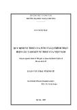 Luận văn thạc sĩ kinh tế: Quy định về thuế của WTO và lộ trình thực hiện các cam kết về thuế của Việt Nam