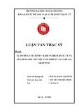 Luận văn thạc sĩ kinh tế: Tự do hóa tài chính - kinh nghiệm quốc tế và giải pháp đối với Việt Nam thời kỳ sau khi gia nhập WTO
