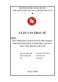Luận văn thạc sĩ kinh tế: Phát triển bảo lãnh ngân hàng đối với hoạt động kinh doanh xuất nhập khẩu tại ngân hàng công thương Việt Nam