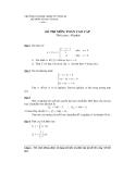 Đề thi môn: Toán cao cấp - Đề số 1 - ĐH Kinh tế TP. HCM