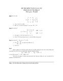 Đề thi môn Toán cao cấp (Dành cho hệ Văn bằng 2) - ĐH Kinh tế TP. HCM