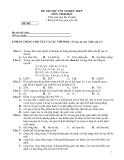 Đề thi thử tốt nghiệp THPT môn Sinh đề 002