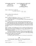 Đề thi môn Toán Kỳ thi tuyển sinh vào lớp 10 THPT năm học 2011-2012 (Kèm hướng dẫn chấm thi)