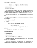 Giáo án Địa lý 7 bài 16: Đô thị hóa ở đới ôn hòa