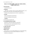 Địa lý 7 bài 8: Các hình thức canh tác trong nông nghiệp ở đới nóng