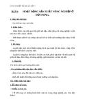 Địa lý 7 bài 9: Hoạt động sản xuất nông nghiệp ở đới nóng