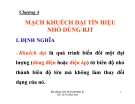 Bài giảng Kỹ thuật điện tử: Chương IV - Lê Thị Kim Anh