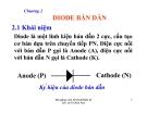 Bài giảng Kỹ thuật điện tử: Chương II - Lê Thị Kim Anh
