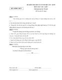 6 đề kiểm tra học kì 2 Ngữ văn 7  - (Kèm Đ.án)