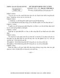 Kỳ thi kiểm định chất lượng  Sinh 8 (2010 -2011) - Phòng GD&ĐT Thanh Chương - (Kèm Đ.án)