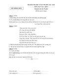 Đề kiểm tra học kì 2 Ngữ văn 8 (2013 - 2014) - (Kèm Đ.án)