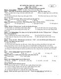 2 đề kiểm tra học kì 1 Ngữ văn 7 -  (Kèm Đ.án)