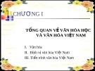 Bài giảng Cơ sở văn hóa Việt Nam (6 chương)