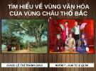 Bài thuyết trình Cơ sở văn hóa Việt Nam