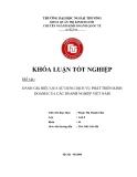 Khóa luận tốt nghiệp: Đánh giá hiệu quả sử dụng dịch vụ phát triển kinh doanh của các doanh nghiệp Việt Nam
