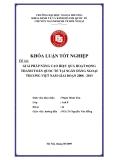 Khóa luận tốt nghiệp: Giải pháp nâng cao hiệu quả hoạt động thanh toán quốc tế tại ngân hàng ngoại thương Việt Nam giai đoạn 2008-2013